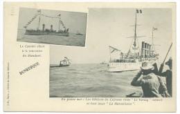 59 - DUNKERQUE - Le CASSINI Allant à La Rencontre Du STANDART - Le Cuirassé Russe Le VARIAG - 2 VUES  - CPA - Dunkerque