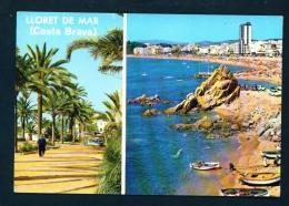 SPAIN  -  Lloret De Mar  Dual View  Used Postcard As Scans - Other