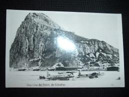 CP NOIR ET BLANC 82. Una Vista Del Penon De Gibraltar. + AVIONS - Gibraltar