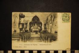 CP, 76, ROLLEVILLE Interieur De L'Eglise N°4 Edition L Poulain Havre - France
