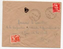 1950 - ENVELOPPE De CHARENTON DU CHER Avec TAXE De 10f - France