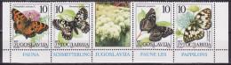 Yugoslavia 2000. Fauna, Butterflies, MNH(**) Mi 2962/65 - 1992-2003 Federal Republic Of Yugoslavia