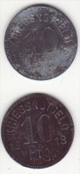 Notgeld - Monnaie De Necessité - Allemagne - Guerre 14-18 - Wurzach 2 X 10 Pf - Monétaires/De Nécessité