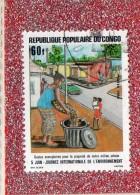 REP. POPULAIRE  DU  CONGO  --  JOURNEE  INTER. DE  L'ENVIRONNEMENT  --  **  60 F. ** -- POSTE 1986 -- TBE - Congo - Brazzaville