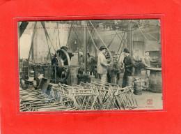 SAINT ETIENNE     1907   METIER INTERIEUR    ATELIER  FABRICATION  CADRE DE VELO   CIRC  NON  EDIT - Saint Etienne