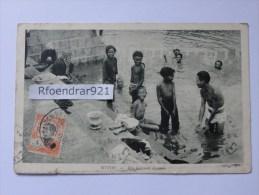 Cachet Oblitération MESSAGERIES MARITIMES Sur Timbre Indochine.MYTHO(Vietnam) Une Baignade - Indochine (1889-1945)