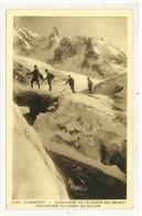 CARTOLINA - NON VIAGGIATA - CHAMONIX - CARAVANE AU GLACER DU GEANT - Chamonix-Mont-Blanc