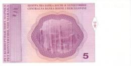 BOSNIA & HERZEGOVINA P.  62a 5 M 1998 UNC - Bosnia And Herzegovina
