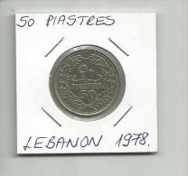 B12 Lebanon 50 Piastres 1978. - Liban