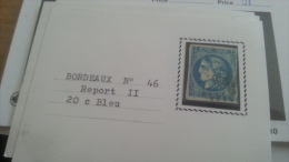 LOT 266393 TIMBRE DE FRANCE OBLITERE N°46B - 1870 Emission De Bordeaux