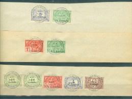 """BELGIE - Fiscale Zegels Op Fragment (ref. 9) -  """"LOUIS VAN OVERLOOP - ST-NICOLAS"""" - Revenue Stamps"""