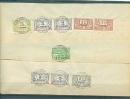 """BELGIE - Fiscale Zegels Op Fragment (ref. 11) -  """"LOUIS VAN OVERLOOP - ST-NICOLAS"""" - Revenue Stamps"""