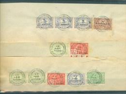 """BELGIE - Fiscale Zegels Op Fragment (ref. 12) -  """"LOUIS VAN OVERLOOP - ST-NICOLAS"""" - Revenue Stamps"""
