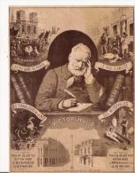 VICTOR  HUGO IMAGE CARTON ILLUSTREe ANCIENne  MONTRANT DES TRANCHES DE SA VIE - Vieux Papiers