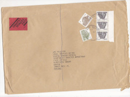 1988 EXPRESS IRELAND Stamps  COVER  To GB - 1949-... Republic Of Ireland