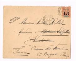 Enveloppe Simple   -   Nouvelle Caledonie  40 C   Timbre Avec Surcharge   Obliteration Nouméa 1902 - France