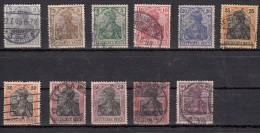 Germania Légende  Deutsche Reich Filigrane Losange  11 Valeurs - Oblitérés