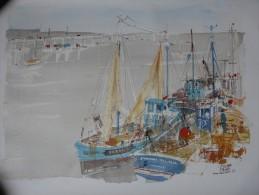 Image D'une Aquarelle De Pierre Pages  De Port  Haliguen 72 - Other Collections