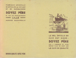 Buvard Soyez P�re, Maroquinerie Lille, gare, train, quai