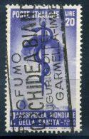 1949 REPUBBLICA ITALIANA ASSEMBLEA NAZ. SANITA' SERIE COMPLETA 1 VALORE USATA - 6. 1946-.. Repubblica