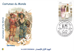 Algeria 1716/7 FDC Costumes Of The World Allemagne Germany Deutschland - Costumes