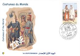 Algeria 1716/7 FDC Costumes Of The World  Turquie Turkey Türkei Turquia - Costumes