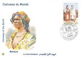 Algeria 1716/7 FDC Costumes Of The World Maroc Morocco Africa - Costumes
