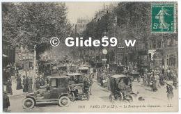 Paris (IIe Et IXe) - Le Boulevard Des Capucines (animée Avec Tacots) - N° 1901 - District 02