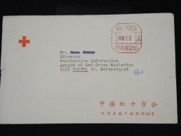 CHINE - Enveloppe Croix Rouge De Pékin Avec Obli Mécanique En 1966 Pour La Suisse - Rare - à Voir - Lot P8293 - 1949 - ... République Populaire