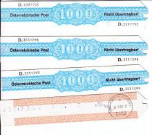 Freistempelverrechnungsstreifen 4x1000, 9402 Wolfsberg, 2000 (15) - 1945-.... 2a Repubblica