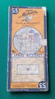 Ancienne Carte Michelin - Numéro 53 - Arras - Mézières - Année 1942 - Cartes Routières