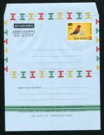 GHANA BIRD AIRLETTER VARIETY GREEN TRAMLINES QUEEN ELIZABETH - Gold Coast (...-1957)