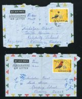 GHANA AIRLETTER IMPORTANT VARIETY BIRD MISSING COLOUR - Gold Coast (...-1957)