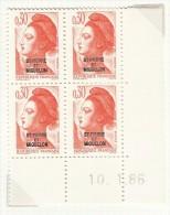 LIBERTE DE GANDON, Coin Daté Avec Surcharge Saint Pierre & Miquelon, N° 458 - Poste Aérienne