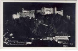SALZBURG -  Burg Hohensalzburg U. Stiglkeller Bei Scheinwerferbeluchtung,  193? - Salzburg Stadt