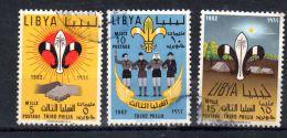 1962,  Troisiüme Rassemblement Scout Tripoli, YT 211 - 213, Oblitéré, Lot 43524 - Libia