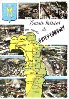 54 - Meurthe-et-Moselle - Bassin Minier De BRIEY - LONGWY - CPSM Multivues, Voyagée 1963 - Briey