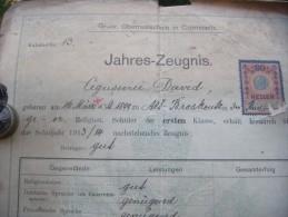 Jahres-Zeugnis  1926  Romania  Cernauti - Diplomas Y Calificaciones Escolares