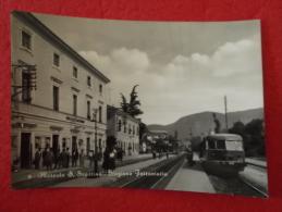 Mercato S. Severino La Stazione Bahnhof Station Gare Con Treno 1959 Salerno Molto Bella - Other Cities