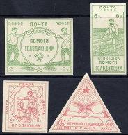 RSFSR 1922 Rostov On Don Famine Relief Obligatory Tax Set Of 4 LHM / (*).  Michel 1-4 - 1917-1923 Republic & Soviet Republic