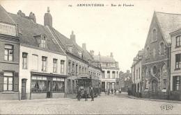 RUE DE FLANDRE. TRAMWAY - Armentieres