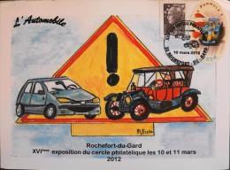 France 2012 - XVIe Exposition Du Cercle Philatélique De Rochefort-du-Gard - Le 10.03.2012 - En B.E - - Philatelic Fairs