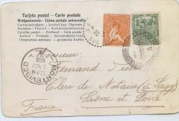 """LMM13 - URUGUAY CPA """"FORTALEZA DEL CERRO MONTEVIDEO"""" VOYAGEE OCTOBRE 1905 - Uruguay"""