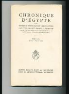 CHRONIQUE D' EGYPTE De La Fondation Egyptologique Reine Elizabeth -  Le Numéro Etat Neuf ( Non Coupé) - 15/253 - Archeology