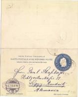 LMM13 - ARGENTINE EP CLRP 6c+6c VOYAGEE POUR LEIPZIG JANVIER 1903 - Entiers Postaux