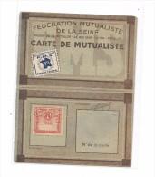7769 - Carte FEDERATION MUTUALISTE De La SEINE 1946 - Maison De La Mutualité PARIS 5 Ième Arrondissement - Non Classés
