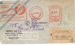 LMM13 - ARGENTINE LETTRE AVEC PUBLICITÉ CHAUSSURES OBL. MECANIQUE 95c BS.AS. / PARIS 21/12/1948 - Argentine