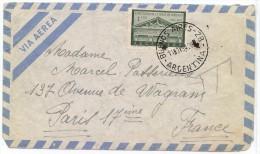 LMM13 - ARGENTINE LETTRE AERIENNE TARIF 1p  BS.AS / PARIS 11/11/1954 - Argentine
