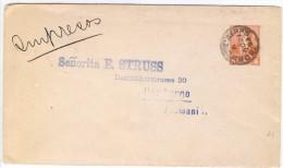 LMM13 - ARGENTINE EP ENVELOPPE RIVADAVIA 5c VOYAGEE AU TARIF IMPRIMES  BS.AS. / HAMBOURG  21/11/1893 - Entiers Postaux