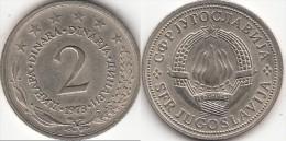 Yugoslavia 2 Dinari 1973 Km#57 - Used - Yugoslavia